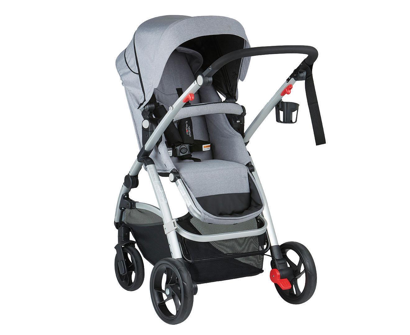 Mother's Choice Covet 4-Wheel Stroller - Grey | Mumgo.com.au