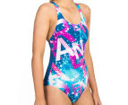 Arena Women's Satellites One-Piece - Deep Sea/Rose Violet 2