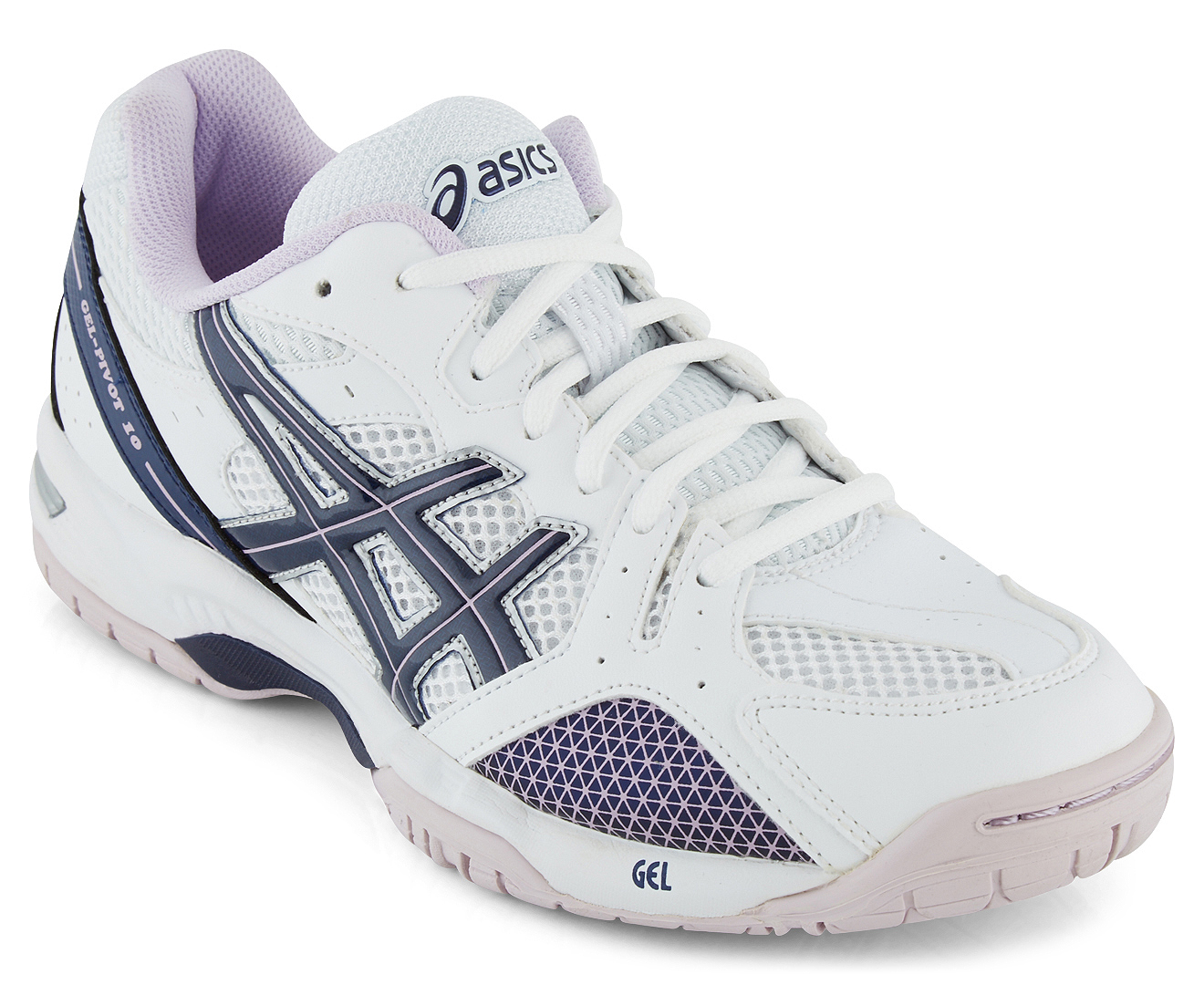 Asics Women U0026 39 S Gel-pivot 10 Netball Shoes  Indigo Blue  Lilac