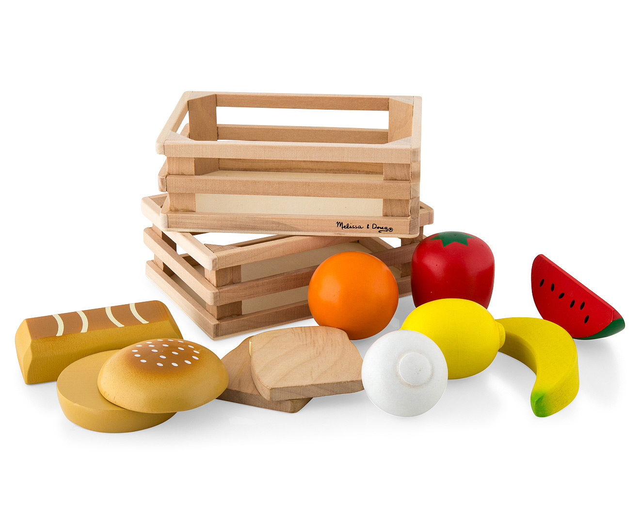 Food Groups  Hand Painted Wooden Food Pieces  Crates