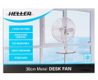 Heller 30cm Metal Desk Fan - Chrome 2