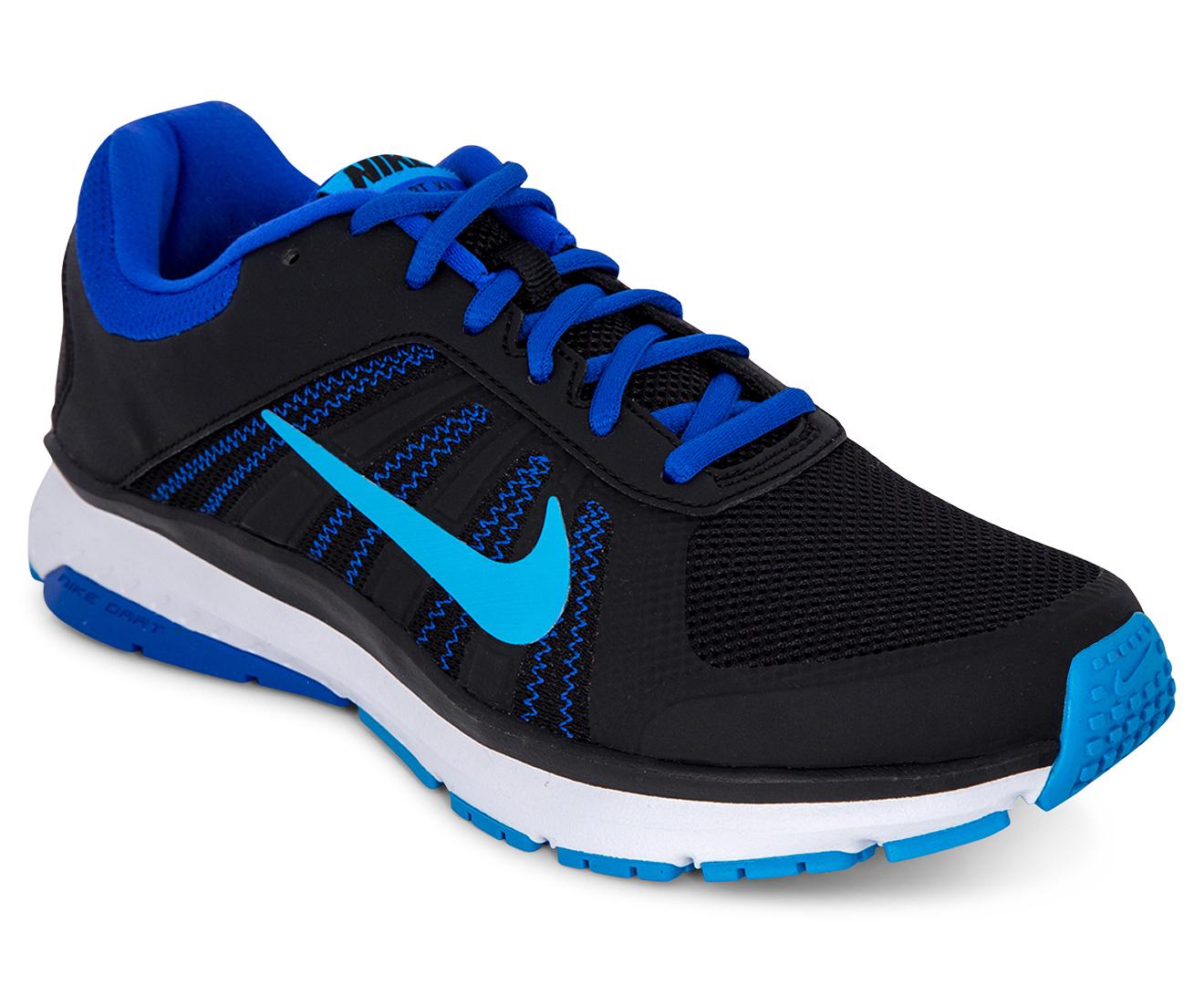 f8268e134c0e Nike Women s Dart 12 MSL Running Shoe - Black Dark Blue Light Blue White