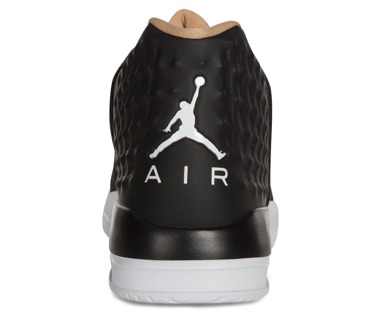ae6e38cdf253 Nike Men s Jordan Academy Shoe - Black White Cool Grey Vachetta Tan ...