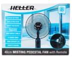 Heller 40cm Misting Fan w/ Remote - Black Pedestal 6