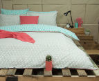 Ardor Wathe Queen Quilt Cover Set - Aqua 2
