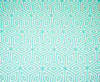 Ardor Wathe Queen Quilt Cover Set - Aqua 3
