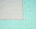 Ardor Wathe Queen Quilt Cover Set - Aqua 5