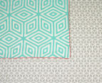 Ardor Wathe Queen Quilt Cover Set - Aqua 6
