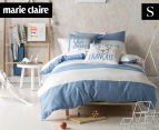Marie Claire Mini By Linen House Jean Denim Single Bed Quilt Cover Set - Blue  1
