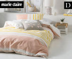 Marie Claire Mini By Linen House Lilou Double Bed Quilt Cover Set - Apricot  1