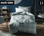 Marie Claire Mini By Linen House Pierre Double Bed Quilt Cover Set - Blue  1