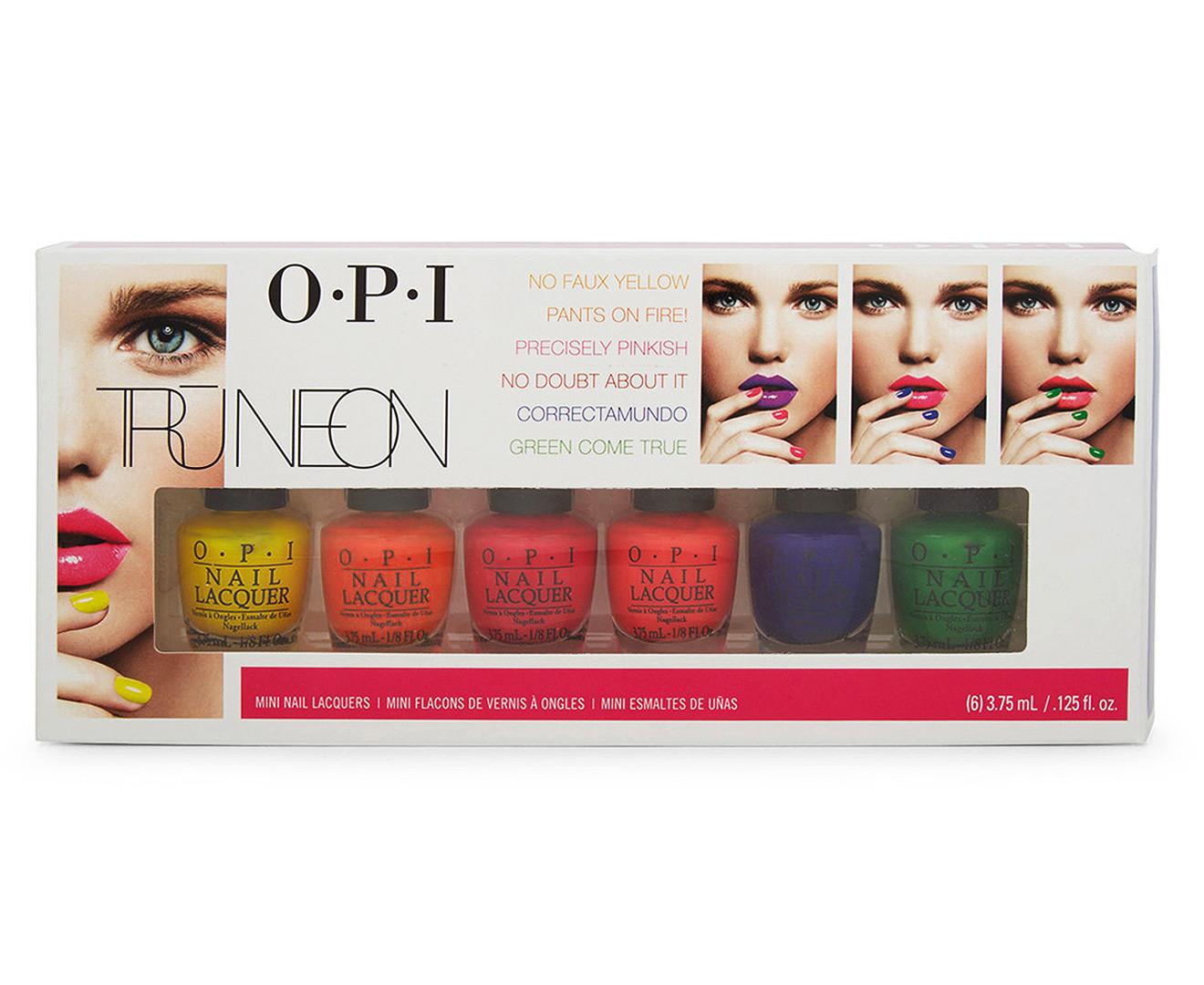 OPI Brights Tru-Neon Mini Nail Lacquer 6pk
