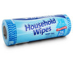 2 x Hercules Household Wipes Handy Roll 25pk - Randomly Selected 2