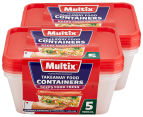 2 x Multix 1000mL Takeaway Food Containers 5pk 1