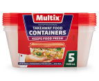 2 x Multix 1000mL Takeaway Food Containers 5pk 2