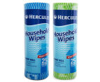 2 x Hercules Household Wipes Handy Roll 25pk - Randomly Selected 1