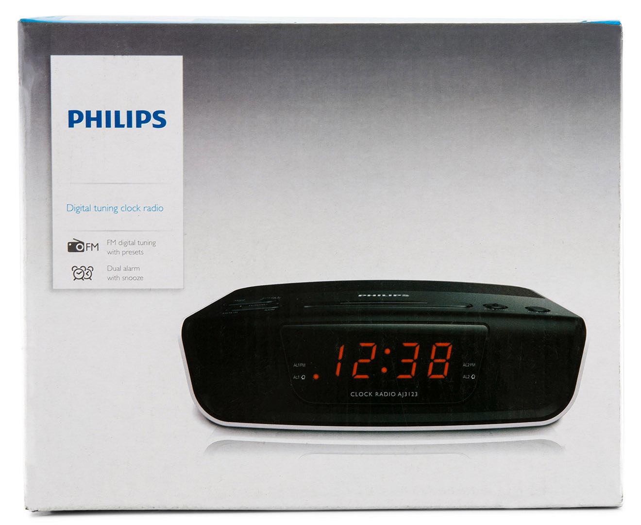 philips digital tuning 24hr clock radio black white great daily deals at australia 39 s. Black Bedroom Furniture Sets. Home Design Ideas