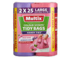 Multix Colour Scents Handy Ties Large Tidy Bags Lavender & Rose 50pk 1