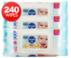 3 x Curash Baby Care Protect Wipes 80pk 1