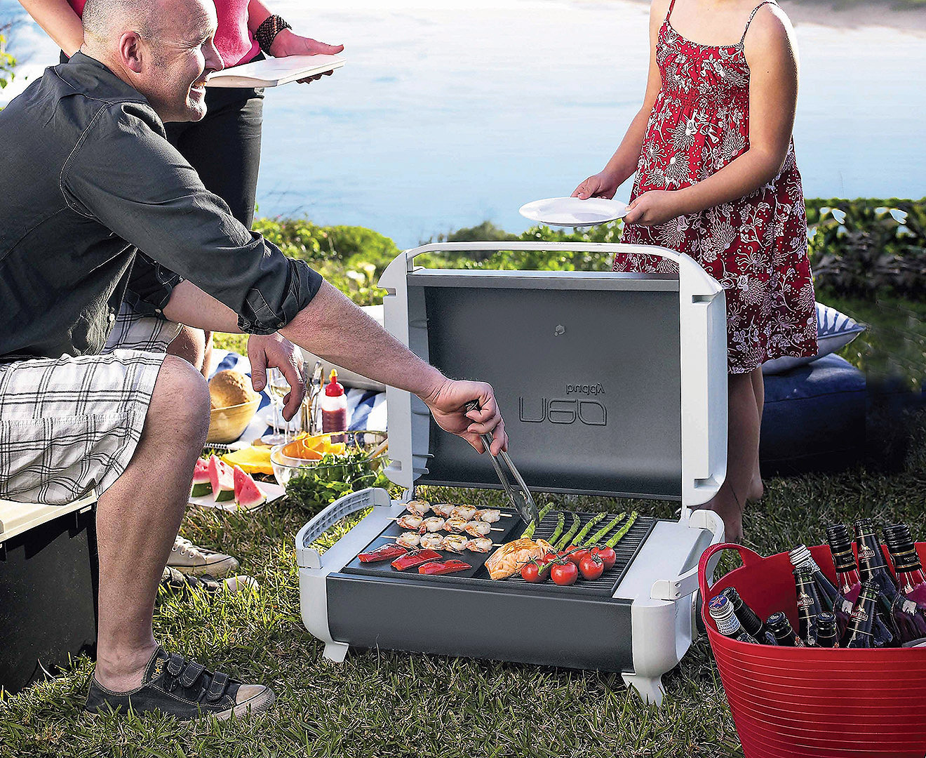Everdure Neo Buddy Open Grill Portable Bbq Kit Grey