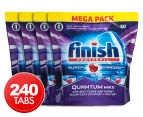 4 x 60pk Finish Quantum Max Powerball Super Charged Dishwashing Tabs  1