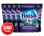 4 x 60pk Finish Quantum Max Powerball Super Charged Dishwashing Tabs Apple Lime Blast 1