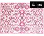 Funky Lace 230 x 160cm Rug - Pink 1