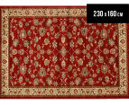 Traditional Floral Border 230x160cm Rug - Red/Ivory 1