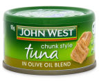 2 x John West Tuna Chunk Style In Olive Oil Blend 4pk 3