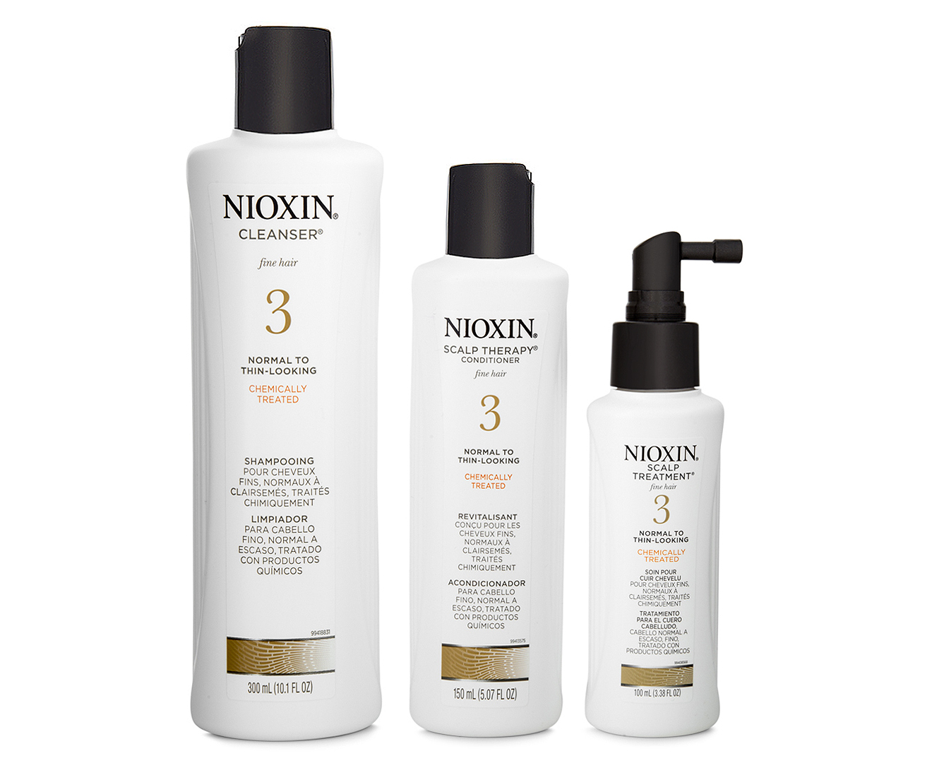 Nioxin System 3 Hair System Kit 3 Pack Groceryrun Com Au