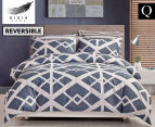 Gioia Casa Mason Queen Bed Mason Quilt Cover Set - Blue/Grey 1