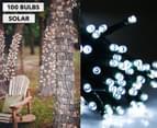 Solar Powered LED Party Lights 100-Pack - White 1