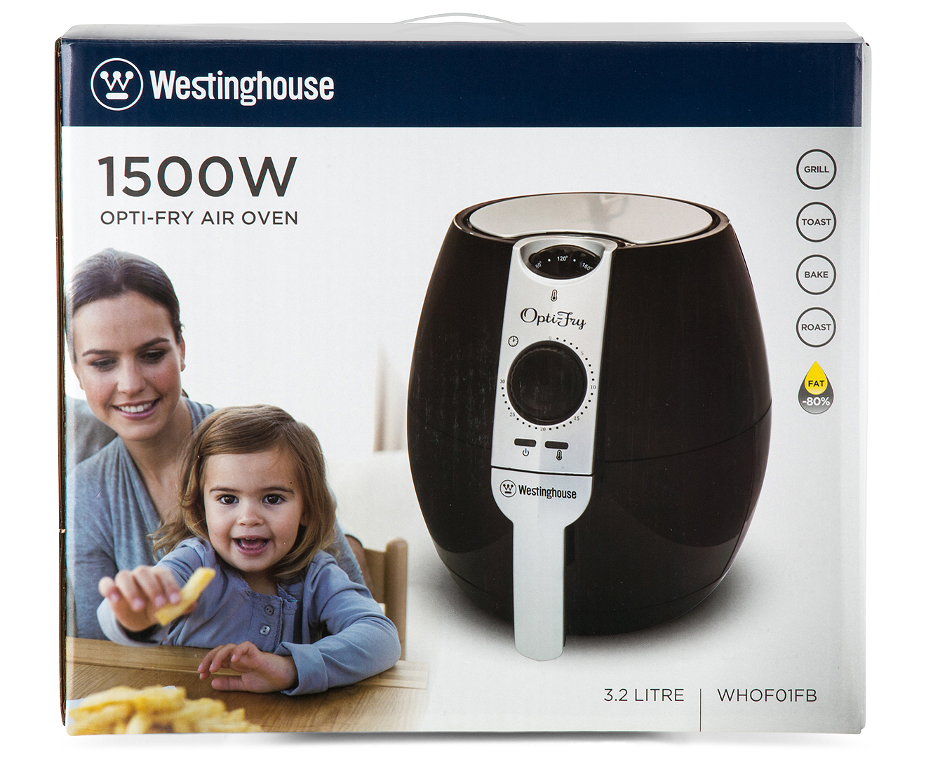 Westinghouse 3 2l Opti Fry Air Oven Black Scoopon Shopping