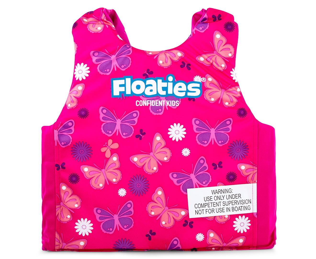 floaties kids u0027 butterfly swim vest pink ebay