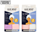 Spa Savvy Twist Turban Hair Wrap 2pk - Randomly Selected 1