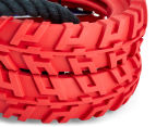 NERF Dog Medium Tuff Tug Tyre Toy - Red 3