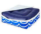 Gracious Living Outdoor Inflatable Air Ottoman Square - Cobalt Blue 5