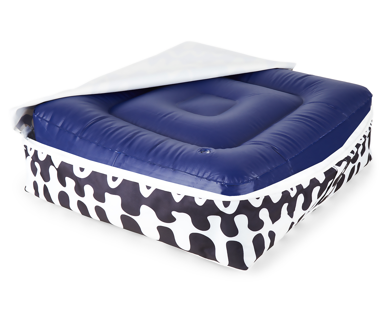 Gracious Living Outdoor Inflatable Air Ottoman Square