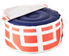 Gracious Living Outdoor Inflatable Air Ottoman Round - Tangerine 5