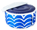 Gracious Living Outdoor Inflatable Air Ottoman Round - Cobalt Blue 5