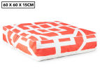 Gracious Living Outdoor Inflatable Air Ottoman Square - Tangerine 1