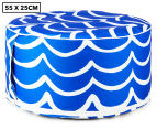 Gracious Living Outdoor Inflatable Air Ottoman Round - Cobalt Blue 1
