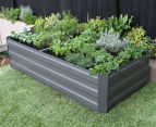 Greenlife 1800x900mm Raised Garden Bed w/ Support Braces - Slate Grey 1