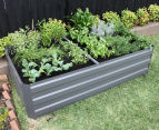 Greenlife 1800x900mm Raised Garden Bed w/ Support Braces - Slate Grey 2