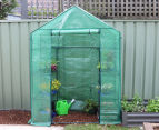 Greenlife 2-Tier Walk-In Greenhouse w/ PE Cover - Green 1