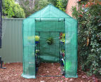 Greenlife 4-Tier Walk-In Greenhouse w/ PE Cover - Green 2