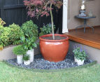 Greenlife 10mx75mm Plastic Garden Edging - Eucalypt Green 2