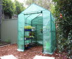 Greenlife 4-Tier Walk-In Greenhouse w/ PE Cover - Green 4