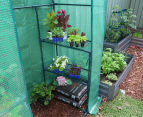 Greenlife 2-Tier Walk-In Greenhouse w/ PE Cover - Green 3