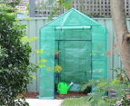 Greenlife 2-Tier Walk-In Greenhouse w/ PE Cover - Green 5